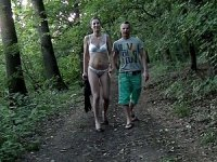 Fetish couple sex in fresh air