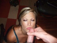 Real amateur MILFs covered with cum