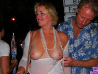 Crazy MILFS flashing their tits and pussy in Public Places