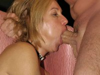 Slutty MILF wives and moms choking on cock