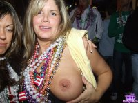 Real amateur MILFs flashing tits and pussy in public