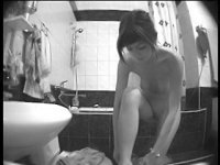 Hot bathroom spying on a naked girl