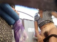Real hot voyeur clips from the beach changing hut