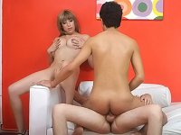 Bisexual men and a horny blonde getting ass fucked