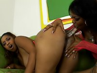 All these hot black lesbians want to do is get a dildo as deep inside of them as possible