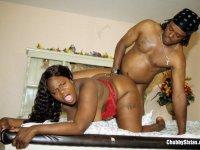Fat Black Amateur Spreads Legs Wide