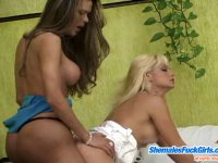 Breathtaking fucking is a real thrill for salacious shemale and naughty gal