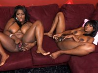 Black skinned babes getting hardcore with each other