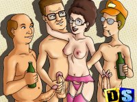 Horny King of the Hill - Hot sex parties from stars of the King of the Hill