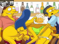 Simpsons try hardcore - Marge and other babes from Simpsons grind on dicks