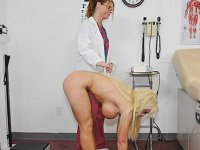 Brunette gets naked for her sex doctor