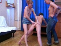 Lesbian trainers seduce a gymnast - Tempted and excited by two lesbian drill instructors