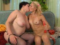 Lustful milf involves a brazen lass into sizzling hot girl-on-girl action