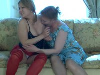 Upset girlie forgets about everything in lesbian making out with a lewd mom