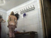 Hot video from a ladies\' locker room voyeur camera