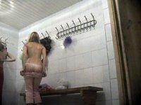 Hot video from a ladies\' locker room voyeur camera