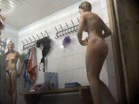 Voyeur cam in ladies\' locker filming awesome chicks