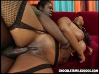 hot black massive jugg slut fucks a cock