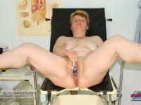 Lousy gynecologist speculum vagina examination senior mamma at hospital