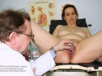 Naughty specialist pussy speculum examination gray mamma at gyn clinic
