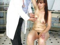 Older Karin visiting gyno doctor to get gyno check up