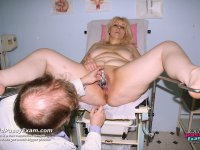 Older Milena visiting gyno gynecologist to get gyno check up