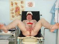 Tana elder perverse nurse piss hole plastic cock masturbation on gynochair