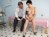 Midle aged classy milf Barbora gyno gyno tool vag clinic exam