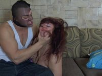 Red-handed thief using his tool plowing a yummy ass of a sleepy mature babe