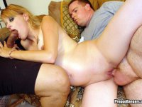 Pregnant Punk in Interracial Threesome