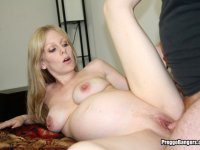 Pregnant Coed Gets Wild Fuck Session