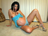 Horny Pregnant Chick Takes On Two
