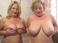 Libby and Victoria playing with melons and fuck with a dildo