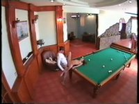 Security cam watches endvill fuck instead of billiard!