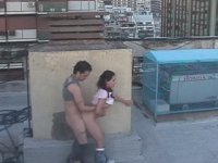 Latina couple watched by security cam!