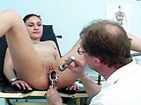 Camilla extreme gyno exploration hole closeups at gyno clinic
